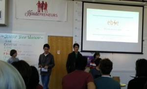 Ebie presenting at Teen Startup Weekend